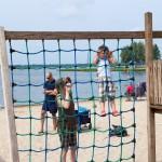 Strand aan het recreatiemeer