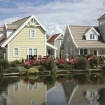 Vrijstaande bungalows aan het water