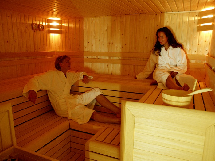 In de sauna op de Beerze Bulten.