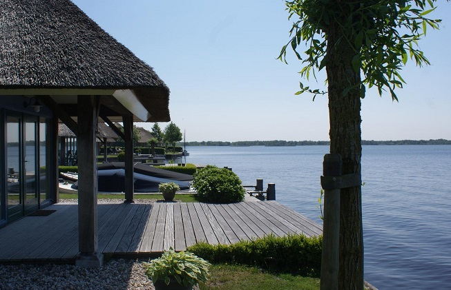 Prachtig uitzicht over het meer