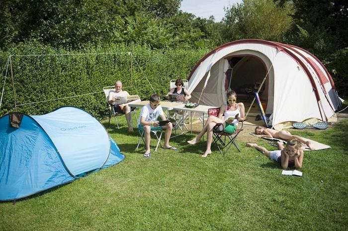 Kampeerplaats op de camping