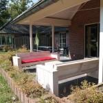 Terras van de bungalow
