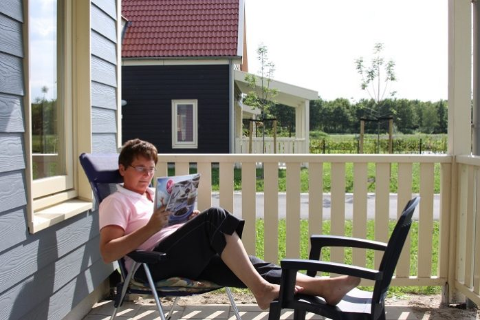 Ontspannen op de veranda