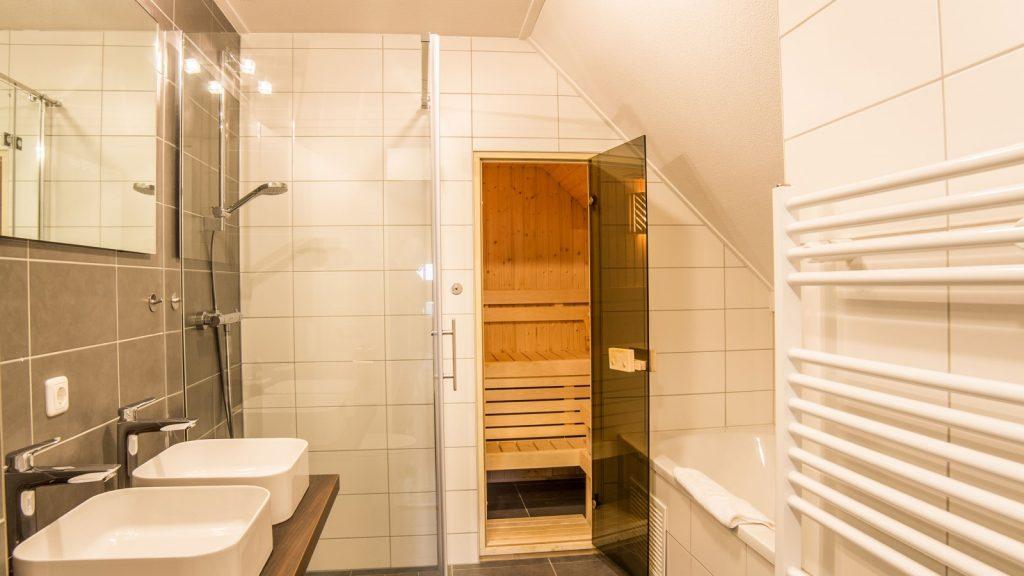 Sauna in villa op Dormio Resort Maastricht