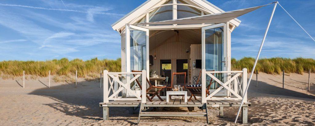 Vakantiehuisje op het strand